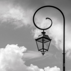Lamp and Clouds, Les Eyzies, France  2013